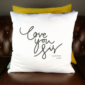 Love You Sis Personalised Cushion Cover - living room
