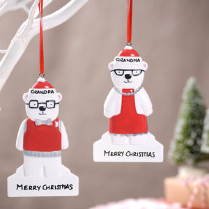 Personalised Grandparent Bear Decorations