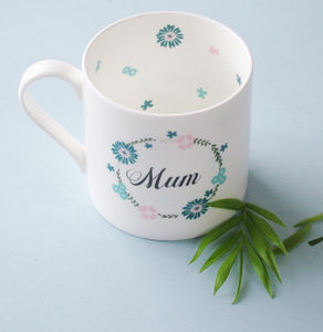 Botanical Chunky China Tea Mug