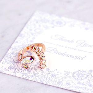 Bridesmaid Petal Ring - be my bridesmaid?