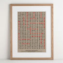 Personalised Wordsearch Art Print