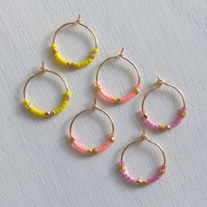 Petite Fair Trade And Neon Delica Hoops