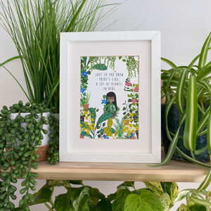 Illustrated Plant Quote Print