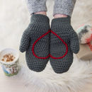 Hidden Love Heart Crochet Slipper Socks