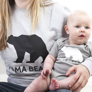 Mama Bear Jumper Set - mother & child sets