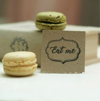 'Eat Me' Rubber Stamp