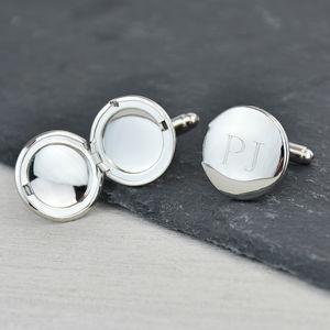 Monogram Personalised Locket Cufflinks - new in fashion