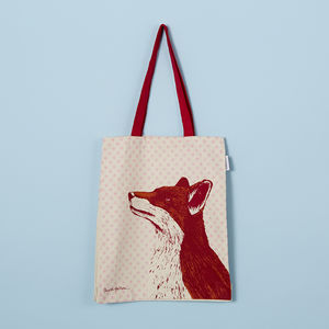 Fox Canvas Tote Bag
