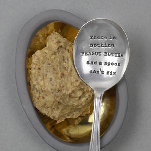 'Peanut Butter' Vintage Silver Plated Spoon