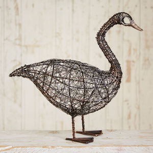 Fair Trade Guska Standing Wire Goose - whatsnew