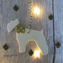 Personalised Fox Terrier Christmas Tree Decoration