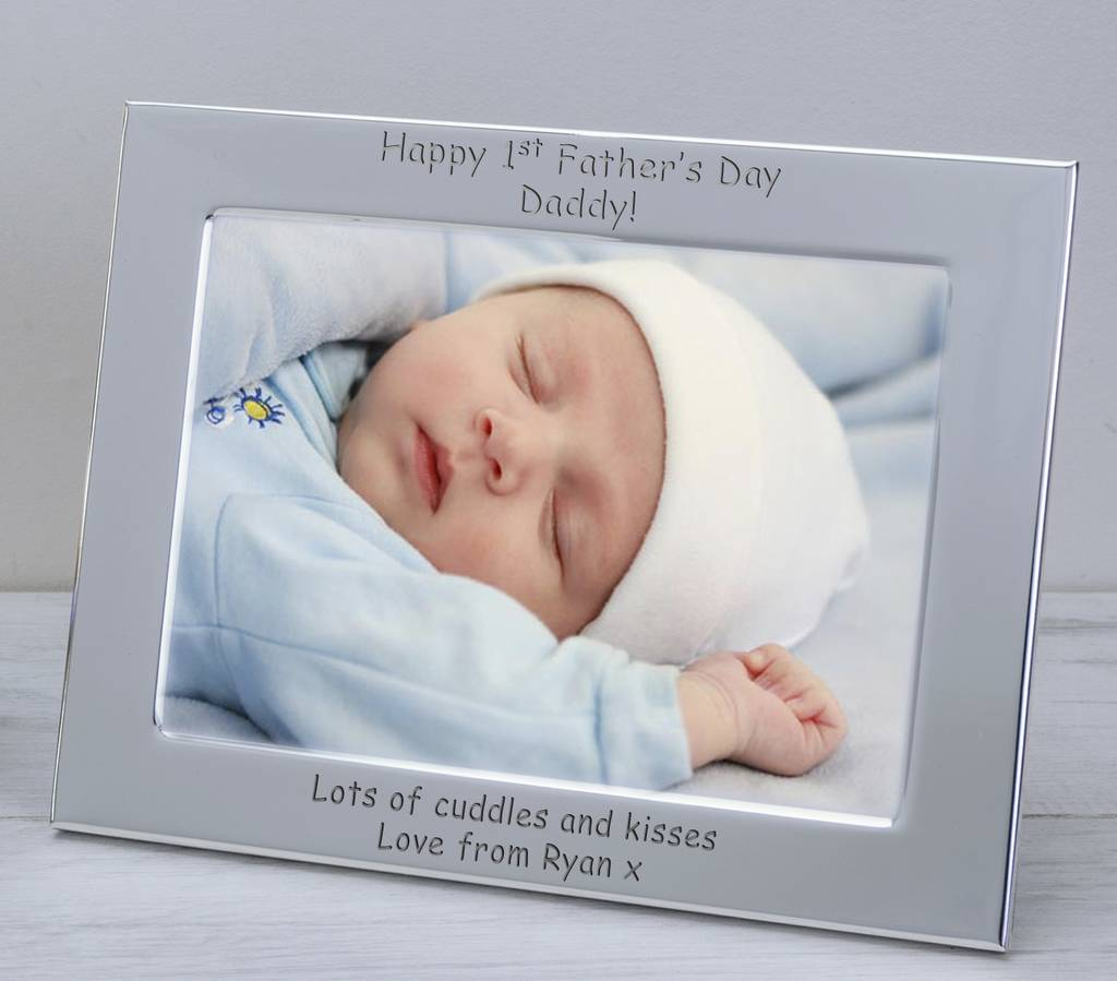 First Fathers Day Silver Plate Frames By Babyfish