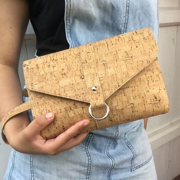 Sustainable Cork Classic Clutch Bag