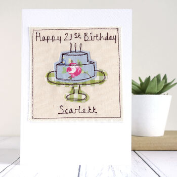 Personalised Birthday Cake Card