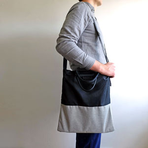Two Tone Unisex Lightweight Tote Bag
