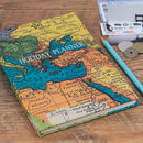 Personalised World Map Travel Notebook