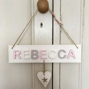 Personalised Vintage Heart Door Sign