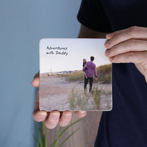 Personalised Photograph Ceramic Print For Dad - people & portraits