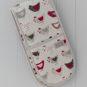 Roost Red Double Oven Gloves - kitchen