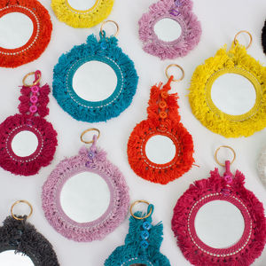 Mirror Tassel Keyring - bag charms