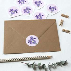 Iris Flower Stickers