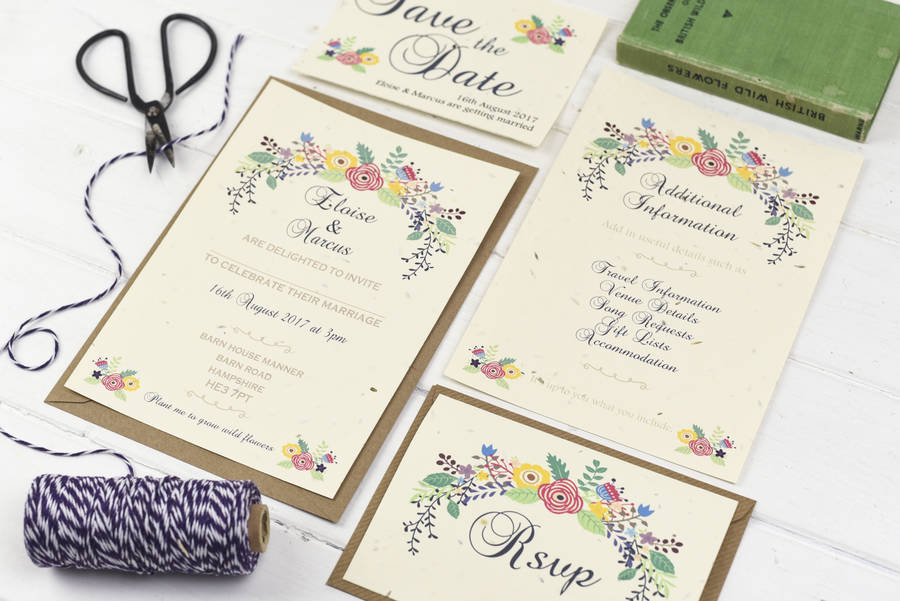 Country Summer Wedding Stationery Set country summer