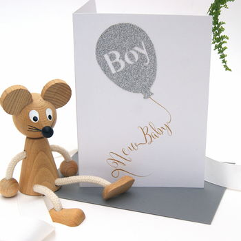 It's A Boy New Baby Balloon Card