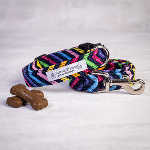 Dog Collar And Lead Set For Girl And Boy Dogs Zigzag