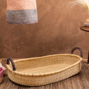 Natural Woven Baby Changing Basket With Handles