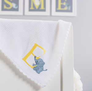 Personalised Alphabet Knit Blanket