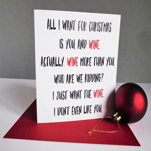 Funny Wine Christmas Card - cards & wrap