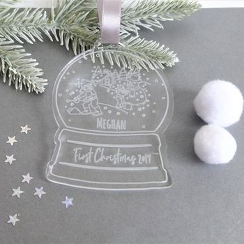 Child's Personalised Snow Globe Christmas Decoration