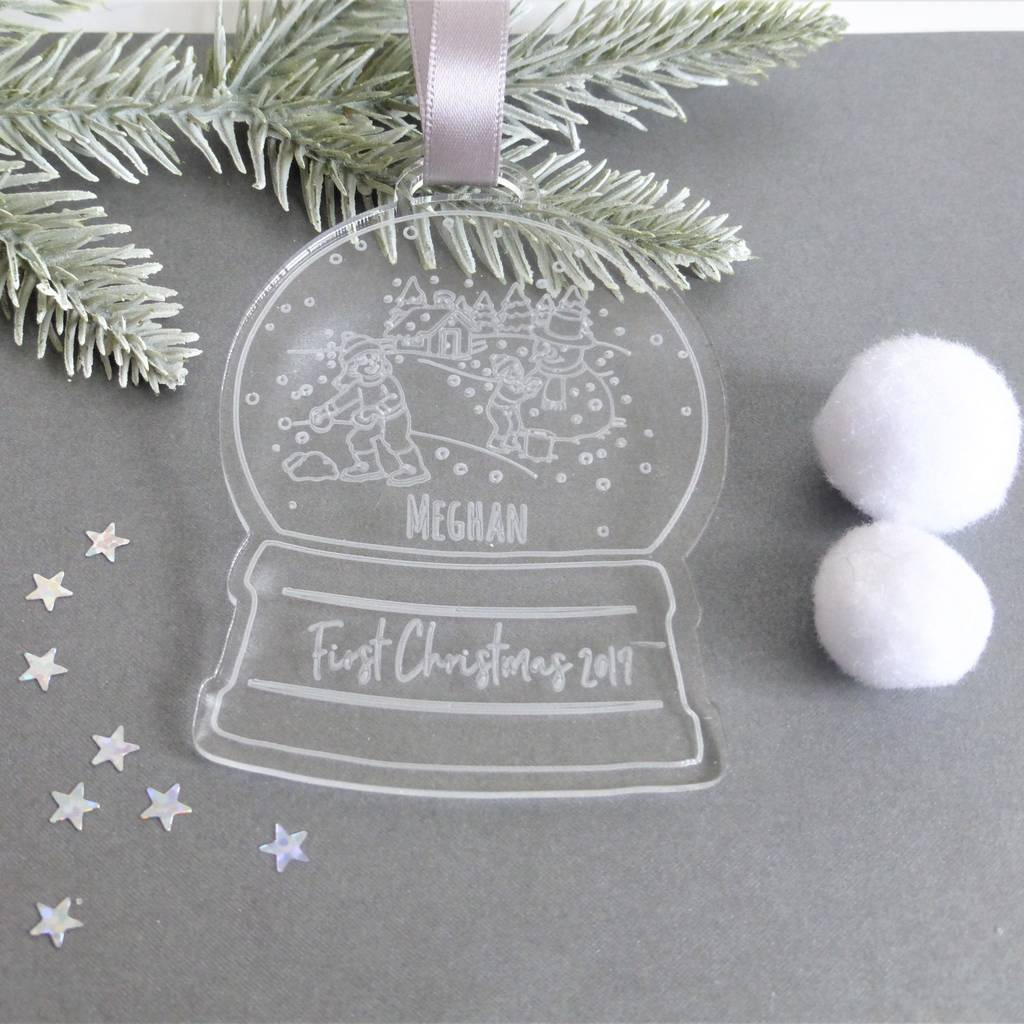 Christmas In Evergreen Snow Globe.Child S Personalised Snow Globe Christmas Decoration