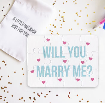 Personalised Will You Marry Me Jigsaw Puzzle