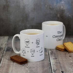 Personalised Mug Family Equation - mugs