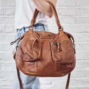 Slouchy Handbag In Super Soft Leather