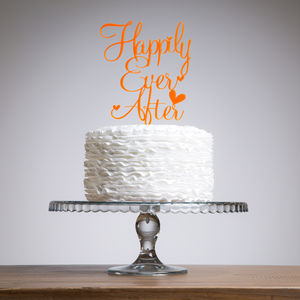 Happily Ever After Wedding Engagement Cake Decoration