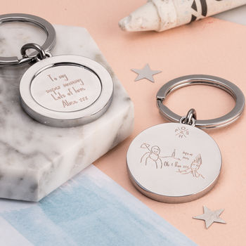 Personalised My Favourite Drawing Keyring