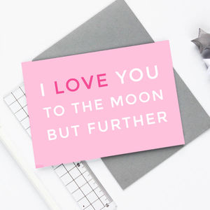'Moon But Further' Card - winter sale