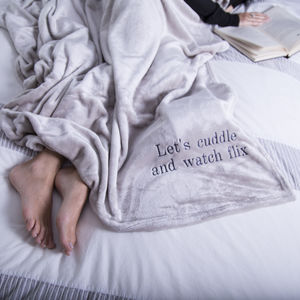 Personalised Ultra Soft Throw - blankets, comforters & throws