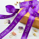 Thank You Teacher 25mm Personalised Printed Ribbon