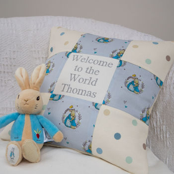 Peter Rabbit Welcome To The World Cushion