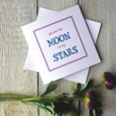 Moon And Stars Personalised Greetings Card