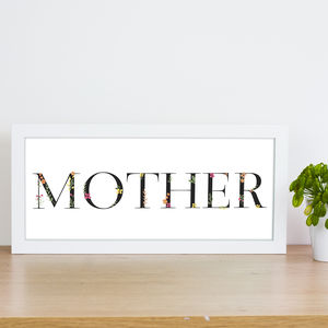 Floral Mother Print - posters & prints