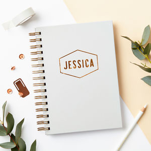 Personalised Copper Name Notebook - staff picks