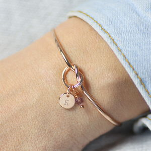 Rose Gold Friendship Knot Bangle - bracelets & bangles