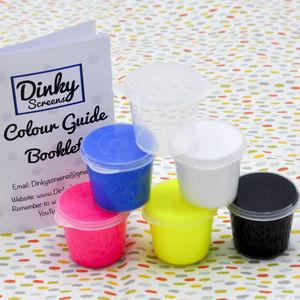 Dinky Screens Bright Fluorescent Inks Set
