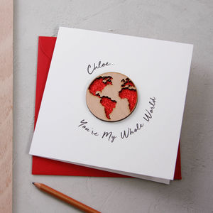 'You're My Whole World' Card - personalised cards