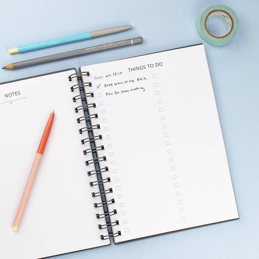 Plan It List It Foiled Diary And Planner By Martha
