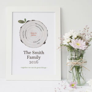 Personalised Family Tree Trunk Print - prints & art